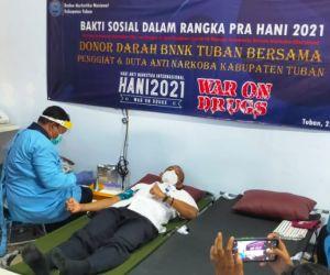 BNNK Tuban Gelar Bakti Sosial Donor Darah bersama Duta Anti Narkoba