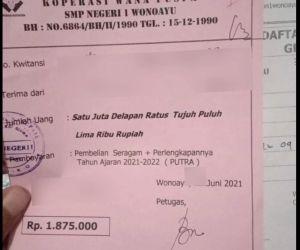 Kain Seragam SMPN di Sidoarjo Dipatok Rp 1,8 Juta, Wali Murid Menjerit
