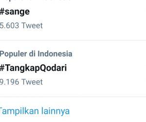 Tagar #TangkapQodari Jadi Trending Topic